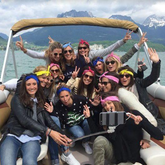 activité EVJF : Water Taxi entre filles lac d'Annecy