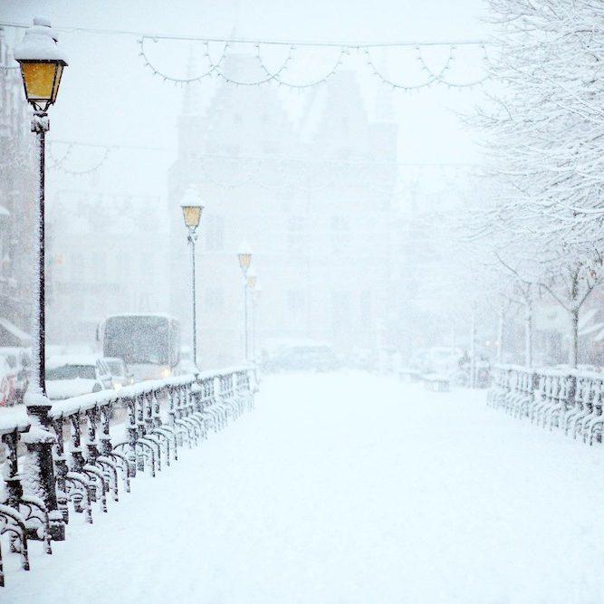 circuler à gyropode dans la neige