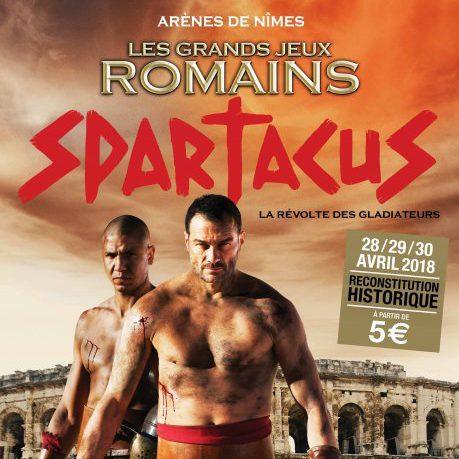 Grands Jeux romains rimes : affiche spectacle Spartacus