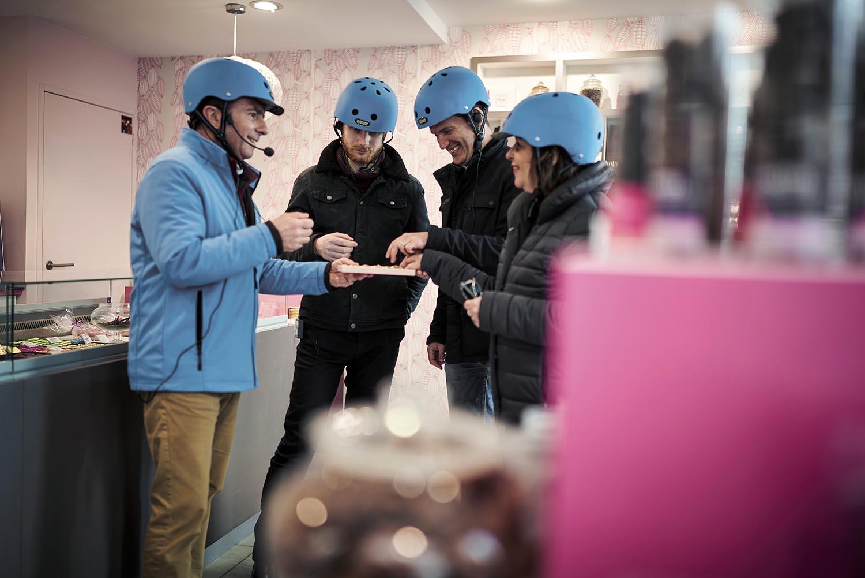Pause gourmande équipe Mobilboard Vienne en Segway