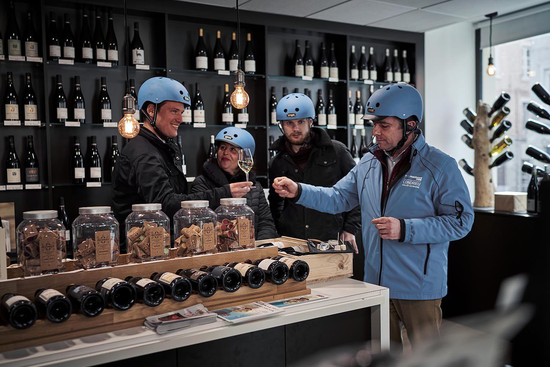 Dégustation vins à Vienne avec l'équipe Mobilboard