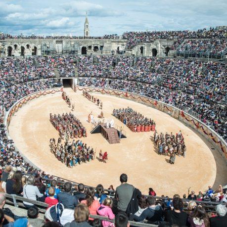Grands jeux romains Nimes : reconstitution jeux romains