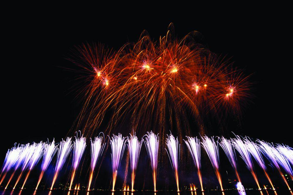 Le spectacle de la Fête du lac d'Annecy