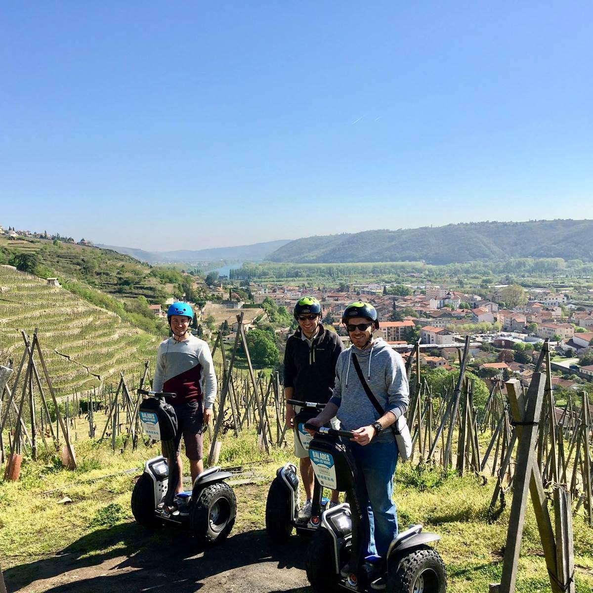 condrieu : découvrir les vignobles à Segway