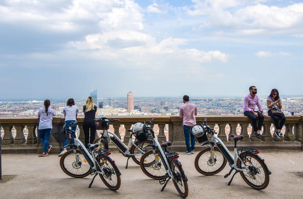 Visite guidée de Lyon à vélo électrique : colline de Fourvière