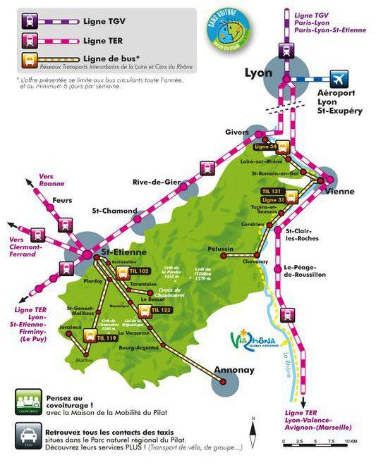 Carte d'accès au Parc du Pilat