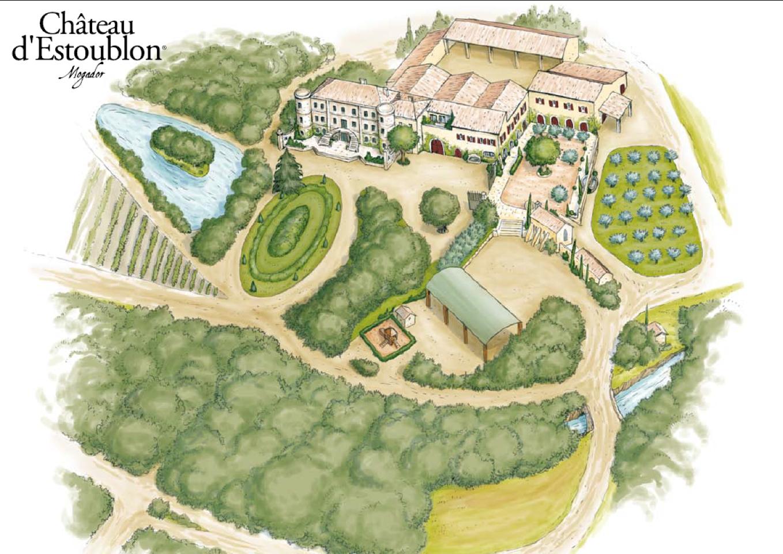 Carte du Domaine d'Estoublon