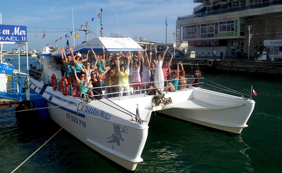 EVG à Montpellier sortie en bateau