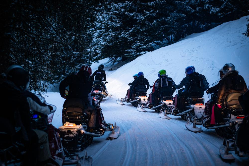 Balade en moto-neige à Annecy