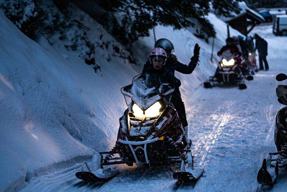 Moto-neige à Annecy