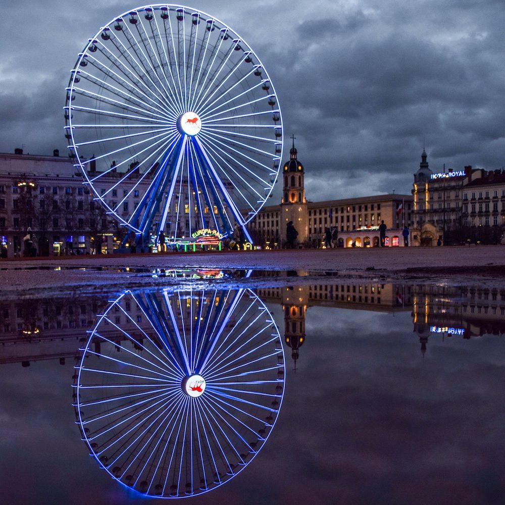 Place Bellecour Fête des Lumières à Lyon