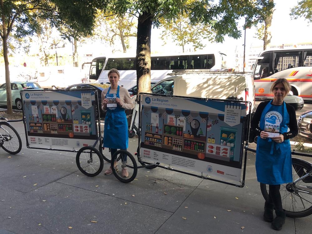 Vélo publicitaire : street marketing Lyon
