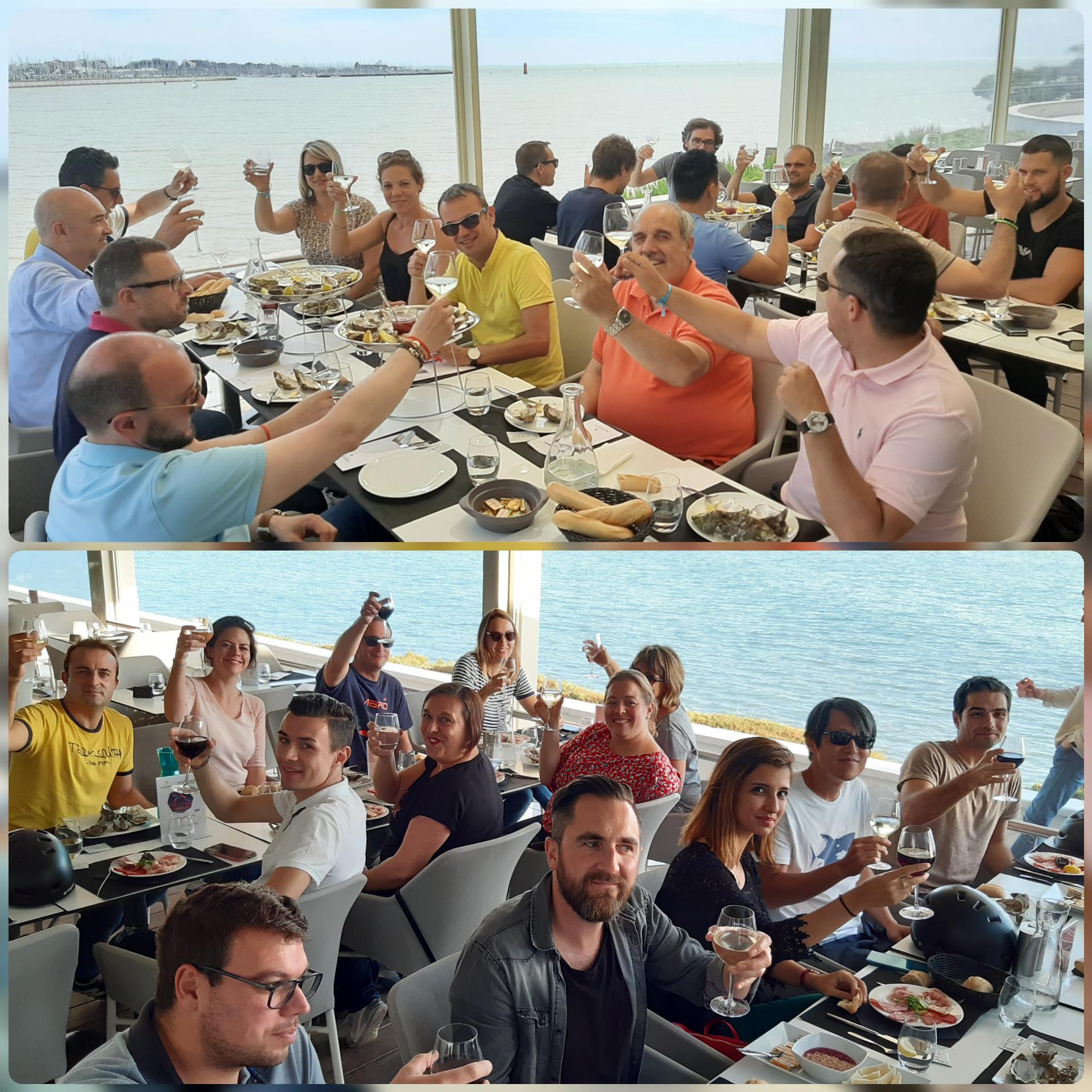 pause gourmande en groupe à La Rochelle