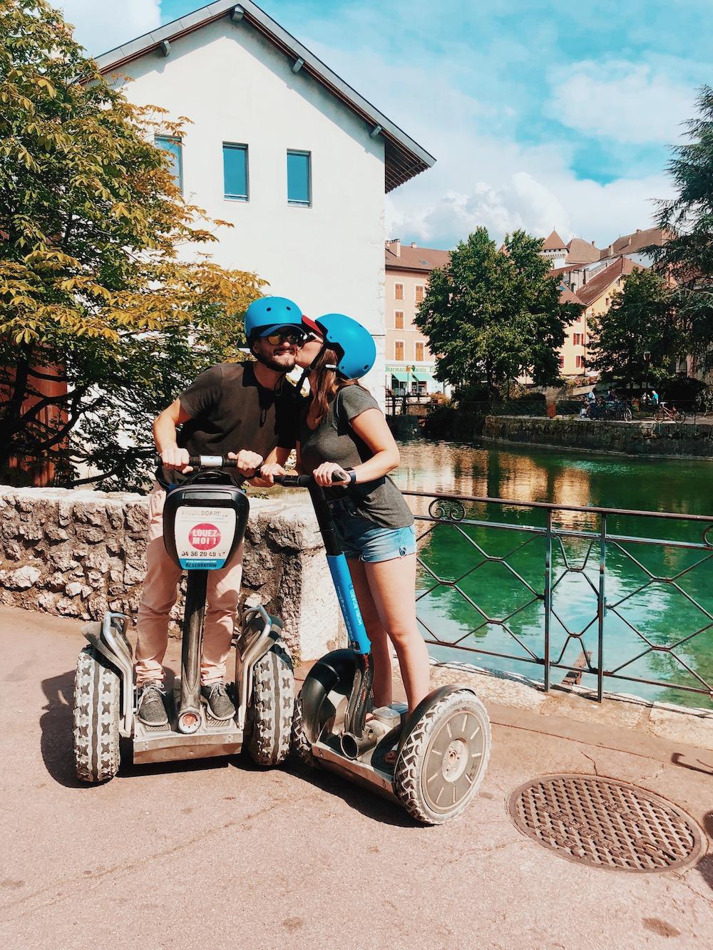 Couple, Segway en Haute-Savoie