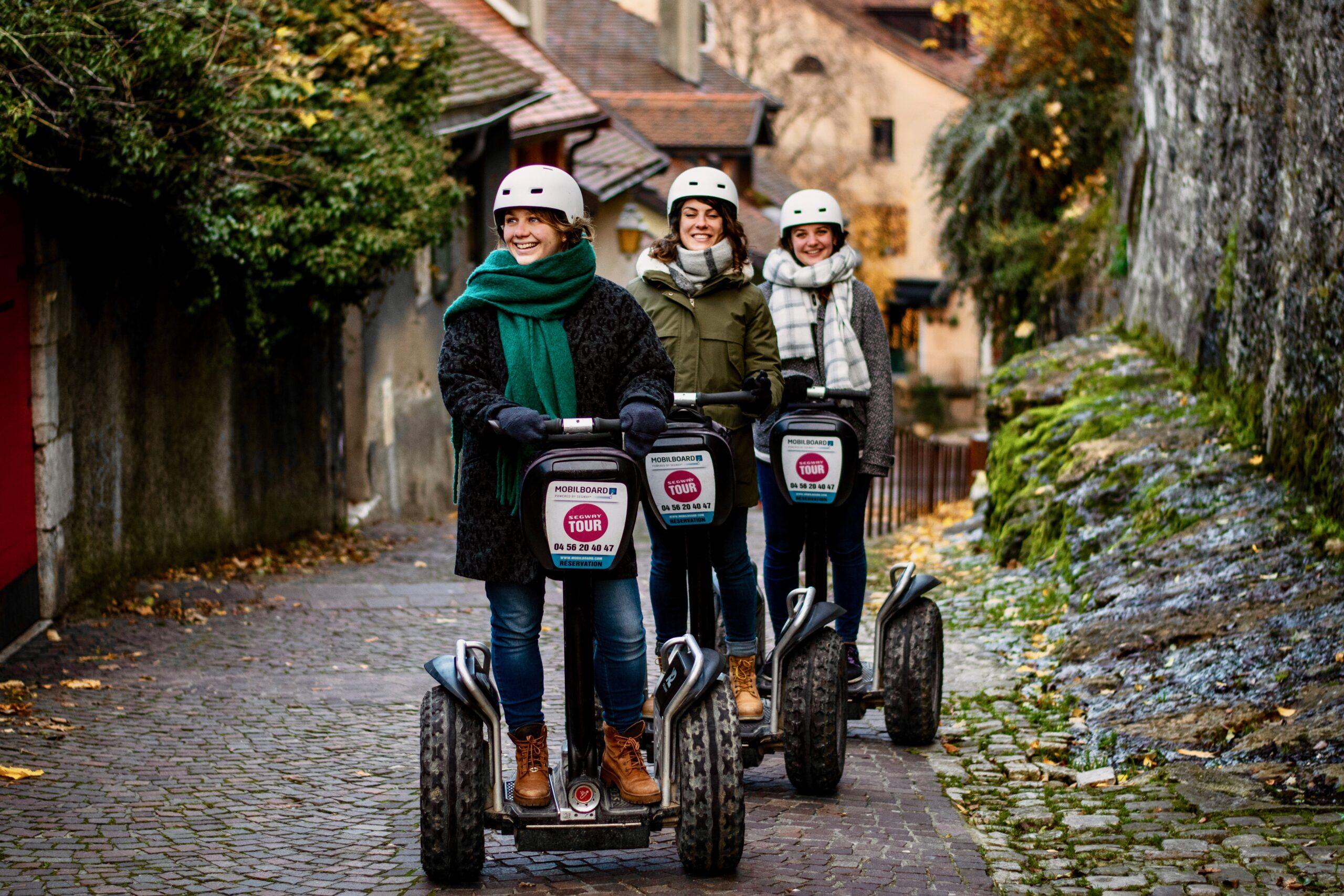 Copines en Segway en Haute-Savoie