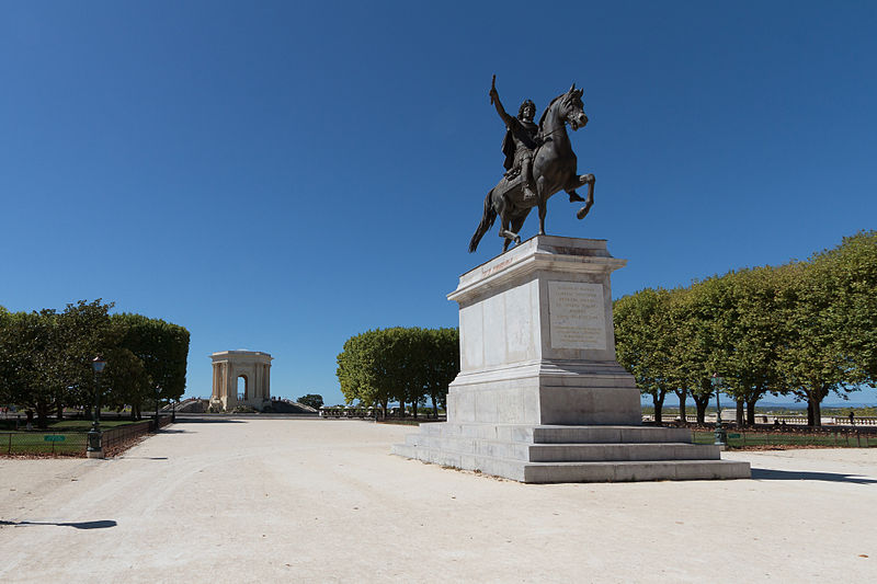 Place du Peyrou à Montpellier