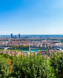 Lyon et ses paysages verdoyants